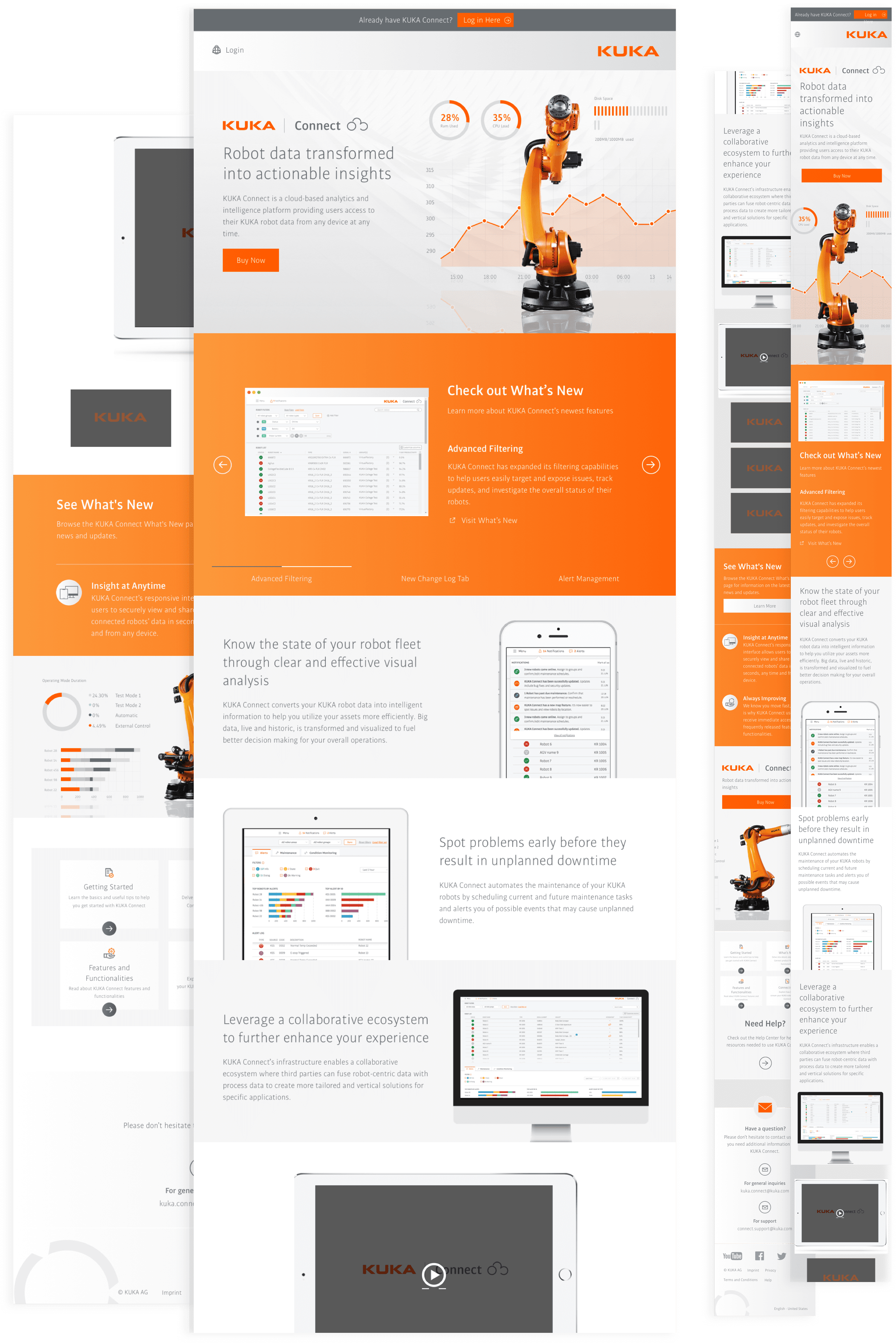 KUKA Connect UI/UX Project