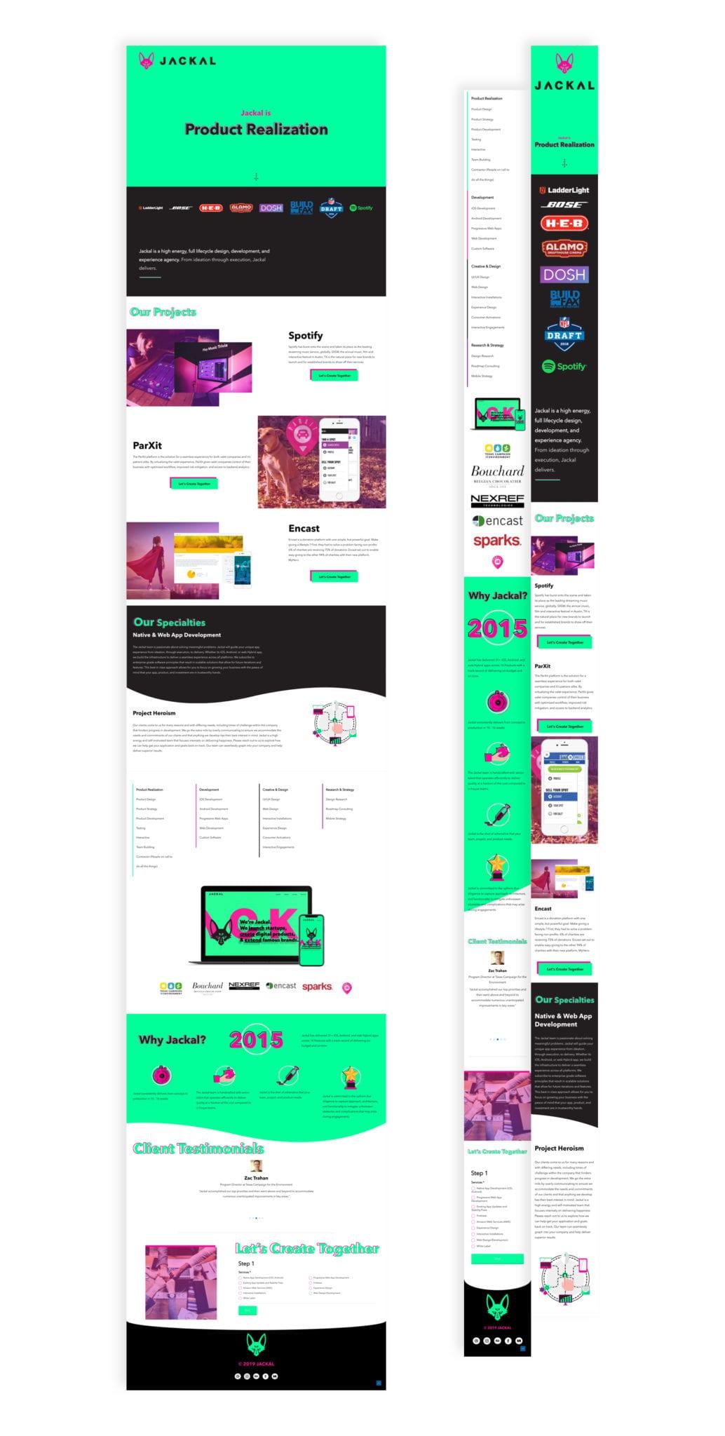Jackal Landing Page Design