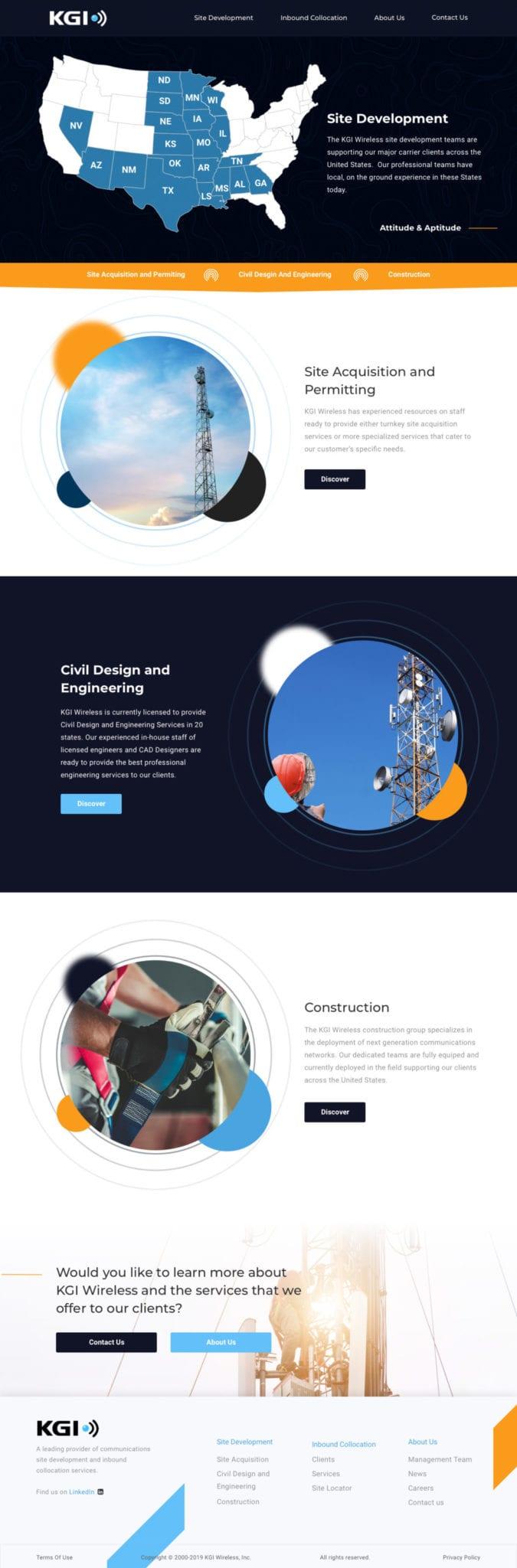 KGI Wireless Custom WordPress Website